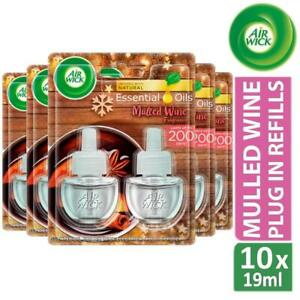 5 x Air Wick Air Freshener Electrical Plug In Refills Mulled Wine 19ml Pack of 2