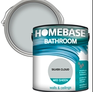 Homebase Bathroom Mid Sheen Paint – Silver Cloud 2.5L